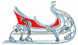Large Sleigh embroidery design
