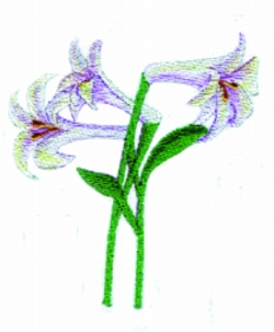 Easter Lillies embroidery design