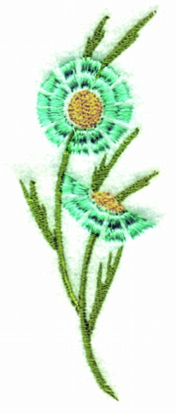 Side Flower embroidery design