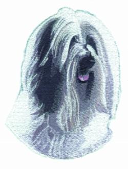 Tibetan Terrier embroidery design