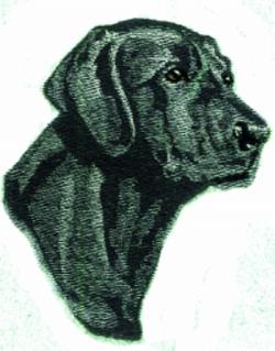 Black Labrador embroidery design