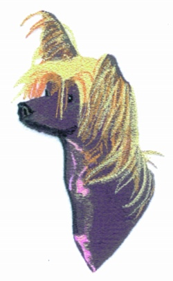 Chinese Crested embroidery design