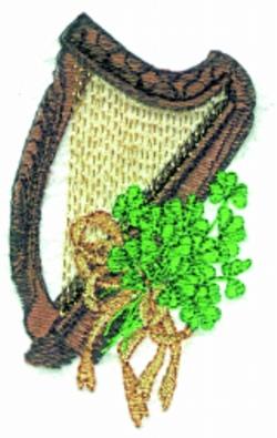Harp Small embroidery design