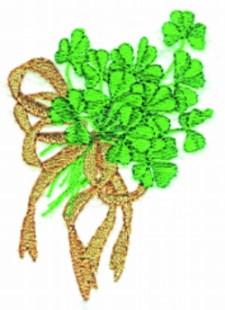 Shamrock Bouquet embroidery design