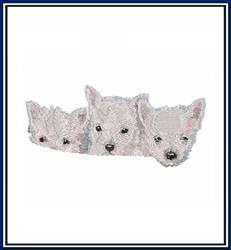Puppy Trio embroidery design