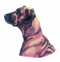 Ridgeback embroidery design