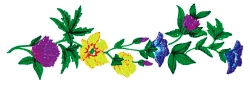 Colorful Floral Border embroidery design