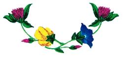 Floral Neckline embroidery design