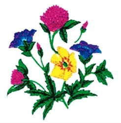 Floral Colors Bouquet embroidery design