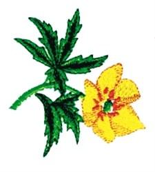 Single Peonie embroidery design