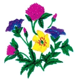 Large Bouquet embroidery design