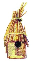 Thatch Birdhouse embroidery design