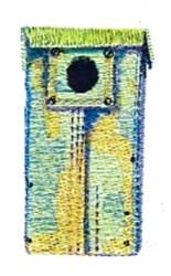 Medal Birdhouse embroidery design