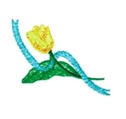 Single Tulip embroidery design