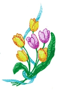 Tulip Spray embroidery design