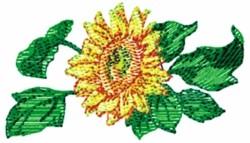 Single Sunflower embroidery design