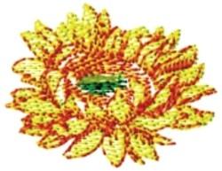 Sunflower Button embroidery design