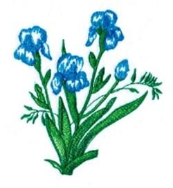 Irises embroidery design