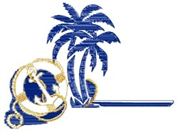 Nautical Palms embroidery design