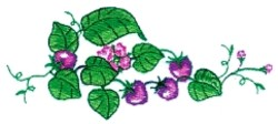Strawberry side piece embroidery design