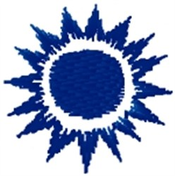 Sun Charm embroidery design