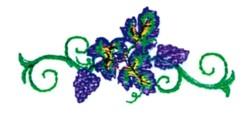 Vineyard embroidery design