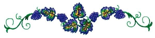 Vineyard Runner embroidery design