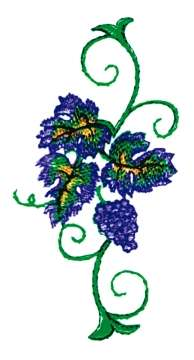 Vineyard Side Panel embroidery design