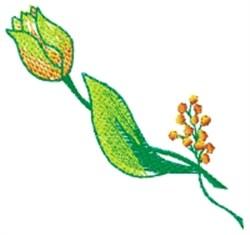 Tulip Stem embroidery design