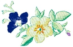 Mixed Flowers embroidery design
