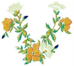 Floral Centerpiece embroidery design