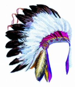 Chief Headdress embroidery design