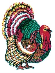 Tom Turkey embroidery design