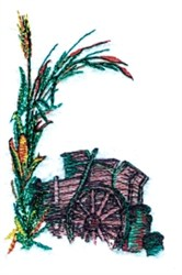 Old Wagon embroidery design