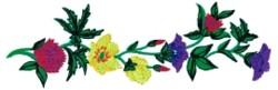 Spring Floral Spray embroidery design
