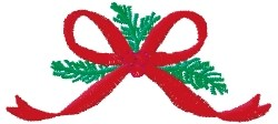 Ribbon Pine Needles embroidery design