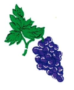 Grape Cluster embroidery design