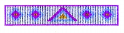 Verticle Beadwork embroidery design