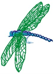 Dragonfly Fly embroidery design