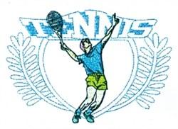 Tennis Serve Crest embroidery design