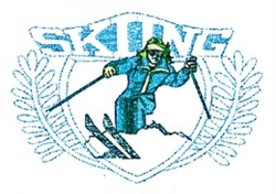 Downhill Skiing Crest embroidery design
