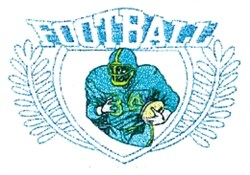 Football Player Crest embroidery design
