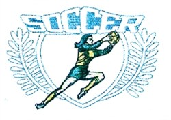 Ladies Soccer Crest embroidery design