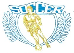 Mens Soccer Crest embroidery design