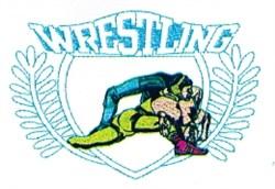 Wrestling Crest embroidery design