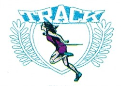 Ladies Track Crest embroidery design