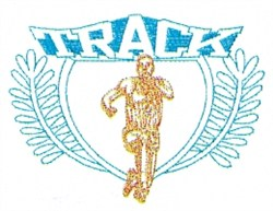Mens Track Crest embroidery design
