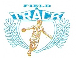 Field & Track Crest embroidery design