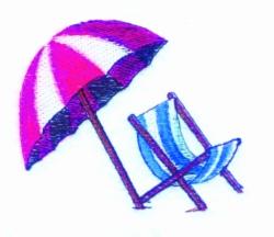 Umbrella Chair embroidery design