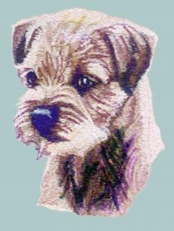 Border Terrier embroidery design